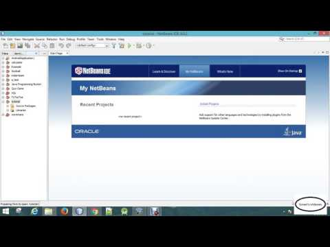 java tutorial | 01  new project in netbeans and using jframe