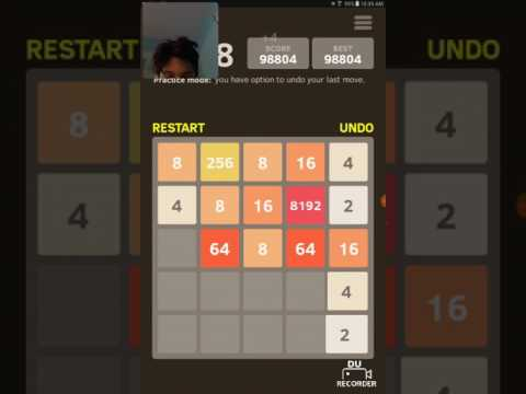 Getting the 8192 tile in 2048! Part 2! 100,000 Score!