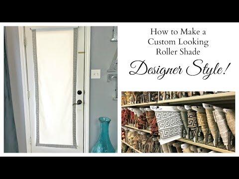 NEW!  Designer DIY:  How To Make a Custom Roller Shade