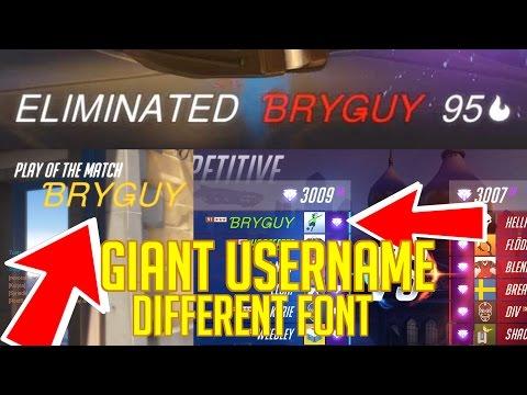 Asian font / Large username in Overwatch (battle.net)