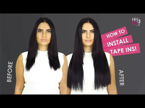 How To Apply Tape Hair Extensions - Human Hair Extensions Online