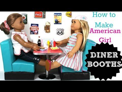 DIY American Girl Doll Diner Booths