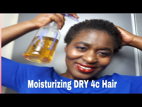 HOW  TO MOISTURISE DRY NATURAL 4C HAIR