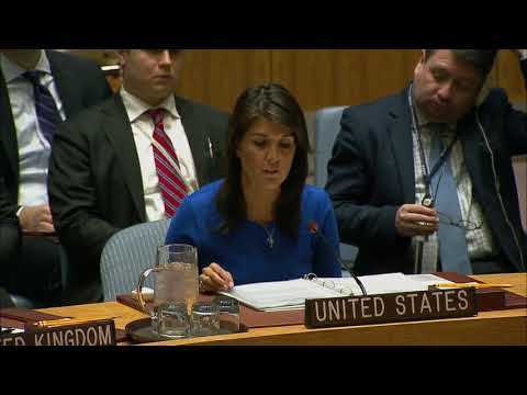 Remarks at a UN Security Council Briefing on Chemical Weapons Use in Syria