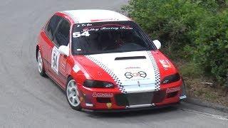 Honda Civic EK4 vs EG6 Racing on Hillclimb - B16 VTEC Engine Sound!