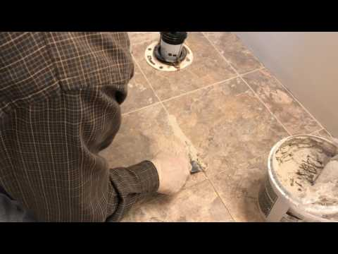 Installing Luxury Vinyl Tile Step 5: Grout the Tiles