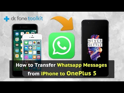 How to Transfer Whatsapp messages from iPhone to OnePlus 5, OnePlus 5T