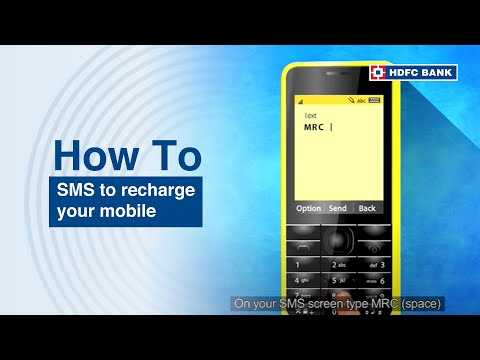 Now just SMS  to recharge your mobile.