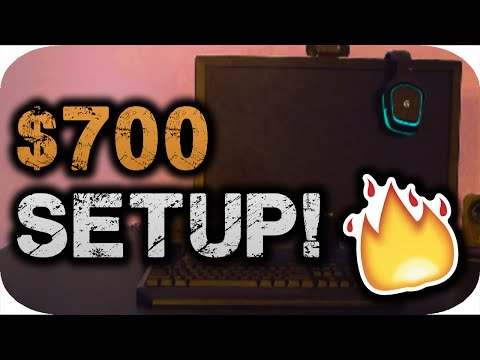 THE BEST GAMING SETUP FOR $700 (GAMING PC INCLUDED)!