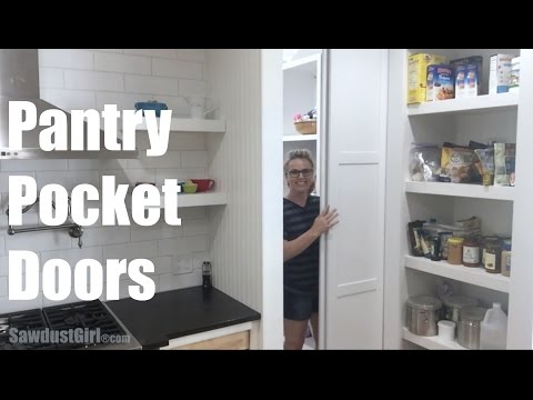 Building Pocket Doors for the Pantry