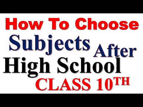 How to choose Subjects After| HIGH SCHOOL|CLASS 10TH| MATRICULATION| A-LEVELS ?