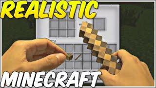 REALISTIC MINECRAFT ~ Noob building Sword ~ [Episode 1]