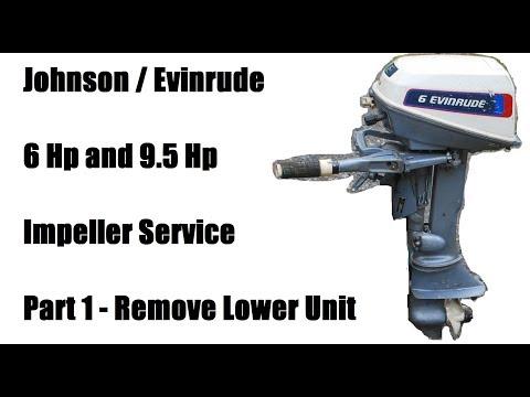 Johnson Evinrude 6 Hp  Remove Lower Unit - Part 1/3
