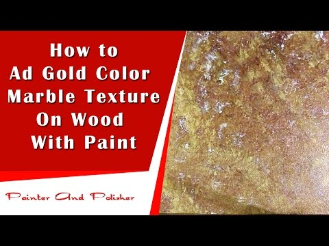 How to Make Gold Color Marble Painting