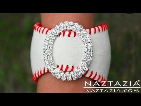 DIY Learn How To Make Easy Baseball Cuff Bracelet leather bracelets from baseballs jewelry jewellry
