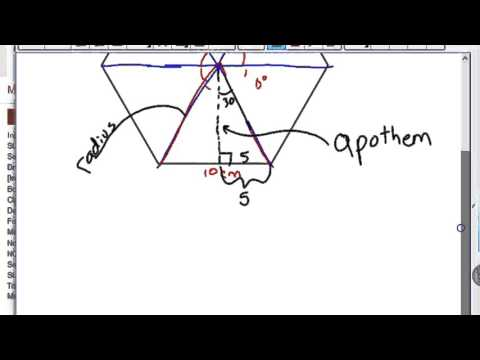 How to find the Area of a regular hexagon