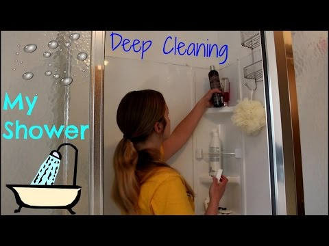 Deep Cleaning my Stand Up Shower|Brandy Crawford