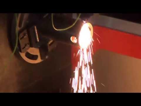 Fiber Laser Cutters F1530T cutting Mild Steel Round Tube, bodor