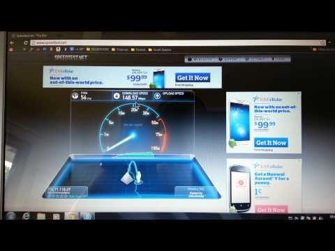 COX Communications Ultimate Internet Speed Test 148 DOWN, 23 UP!!