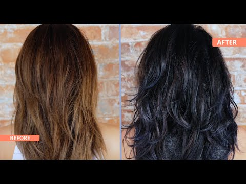How to Black & Blue Ombre / Dip Dye Your Hair