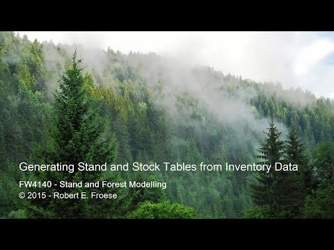 Generating Stand Tables from Inventory Data