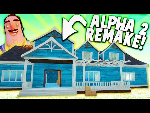 REVISITING ALPHA 2 IN HELLO NEIGHBOR! (Alpha 2 Mod) | Hello Neighbor Beta 3 Mods Gameplay