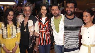 Shraddha Kapoor With LOVING Family @ Bombairiya Sreening   Shakti Kapoor, Shivangi, Siddhanth Kapoor