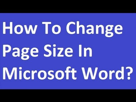 How To Change Page Size in MS Word?