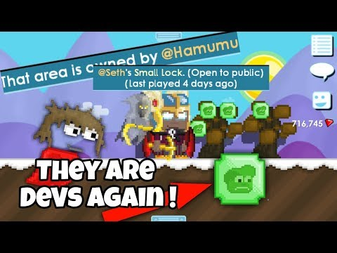 @Seth & @Hamumu ARE DEVS AGAIN! We Are Finally Back!! (Rollback) | Growtopia