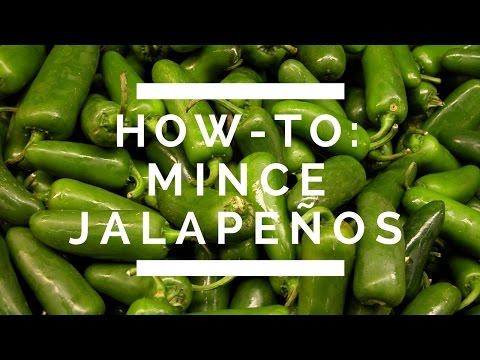 How-To: Mince Jalapeños