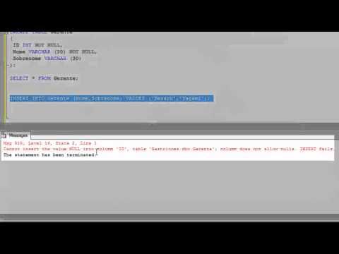 SQL - Cláusula Constraint - Parte 01 - Aula 6