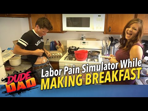 Labor Pain Simulator While Making Breakfast!