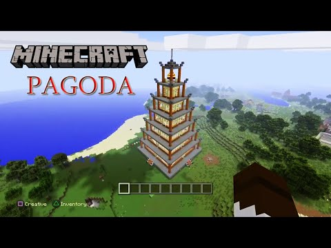 Minecraft - How to build a Pagoda.