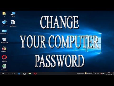 How to change password in Windows 10