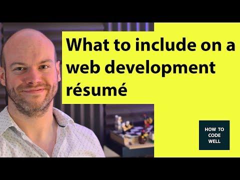 ✅  What To Include On Your Web Development Résumé