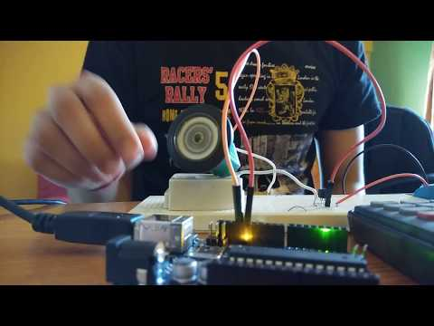 DC Motor speed control using PWM technique with Arduino and Transistor as switch.
