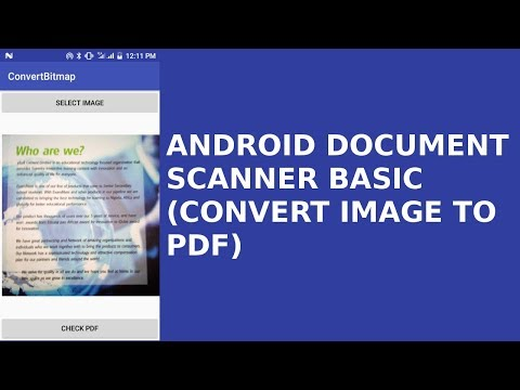 ANDROID DOCUMENT SCANNER (CONVERT IMAGE TO PDF)