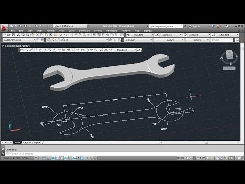 AutoCAD 3D Wrench Tutorial (Basic)