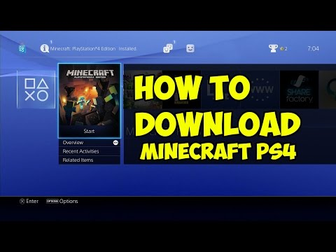How To Download / Install Minecraft PS4