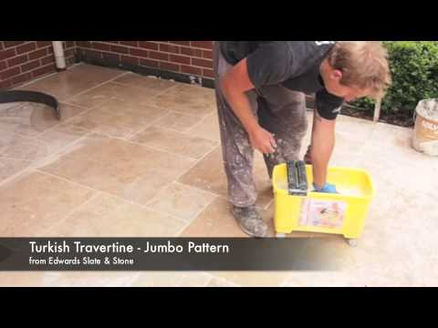 How to Remove Grout Residue on Travertine Pavers French Pattern