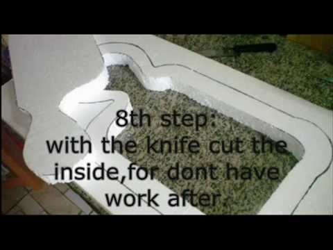 How to make a concrete fingerboard bowl ENGLISH