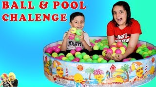 BALL and POOL CHALLENGE | Summer Masti Parents vs Kids Game | Aayu and Pihu Show