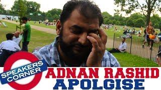 Adnan Rashid Apologies For His Racist Comment | Speakers Corner