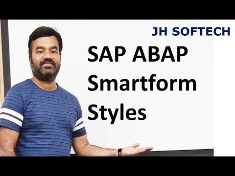 SAP ABAP Smartform Styles