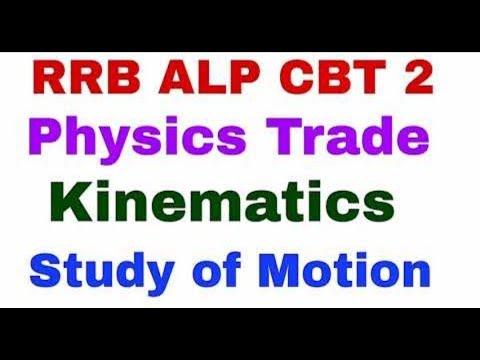 Kinematics   Study of Motion   RRB ALP CBT 2 Physics Trade