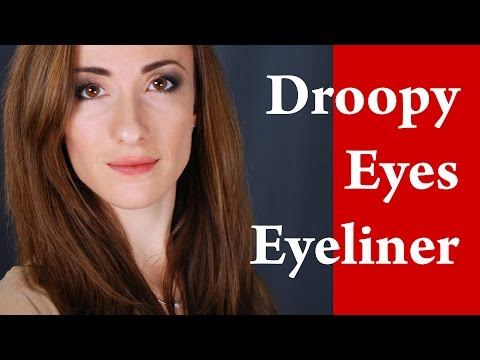 How to apply EYELINER on HOODED eyes / DROOPY eyes / ROUND and DOWNTURNED eyes : Makeup Tutorial