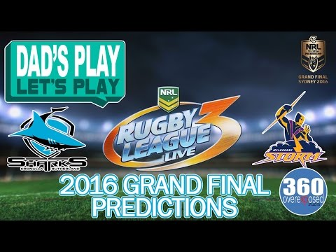 2016 NRL Grand Finals Prediction - Cronulla Sharks vs Melbourne Storms