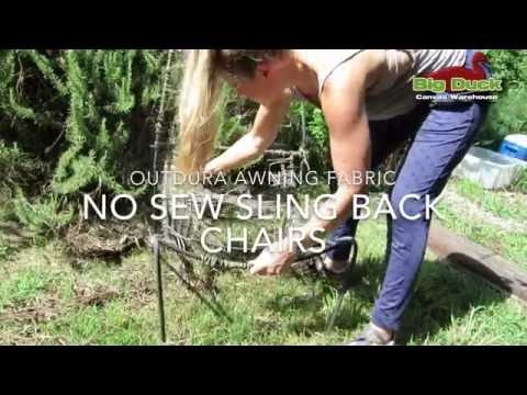 Recover Sling Back Outdoor Chairs Without Sewing!