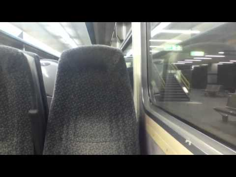 Arriving and departing Sunderland on a Northern Rail class 156 - 9/2/11