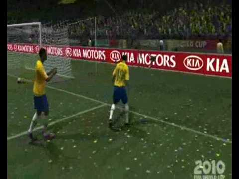 2010 FIFA World Cup South Africa - top 10 Gols BRASIL (XBOX 360)